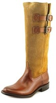 Lucchese Tall Ridin Round Toe Suede Western Boot.