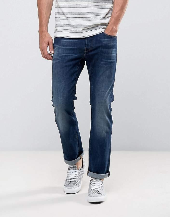 G Star G-Star 3301 Straight Dark Aged Wash Jean
