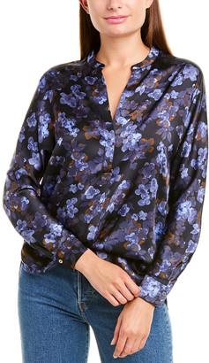 Vince Plumeria Blooms Silk Popover