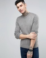 Asos Mohair Mix Crew Neck Sweater in Gray