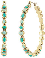 Lucky Brand Turquoise Beaded Hoop Earrings