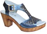 Eric Michael Blue Leather Tyra Sandal