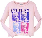 Junk Food Clothing Frozen Elsa Tee (Toddler/Kid) - Patti Pink-S(6/7)