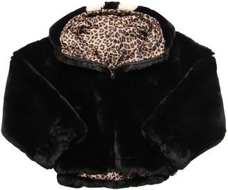 MonnaLisa Reversible Faux Fur & Leopard Jacket