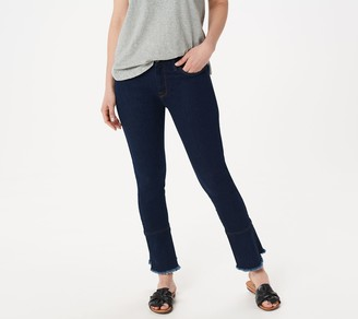 JEN7 by 7 For All Mankind Ankle Skinny Jeans with Ruffle Hem