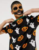 Asos Design ASOS DESIGN Halloween relaxed t-shirt with all over ghost and pumpkin print
