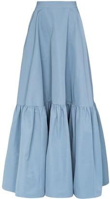 Plan C tiered maxi skirt