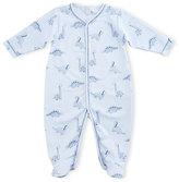 Kissy Kissy Dino Daze Printed Footie Pajamas, Blue, Size Newborn-12 Months