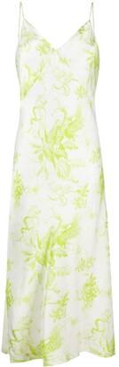 AllSaints Safari-Print Slip Dress