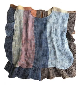 Masscob Blue Linen Top for Women