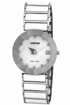 Jowissa Women's J5.215.XL Pyramid Stainless Steel Mother-Of-Pearl Dial White Ceramic Bracelet Date Watch