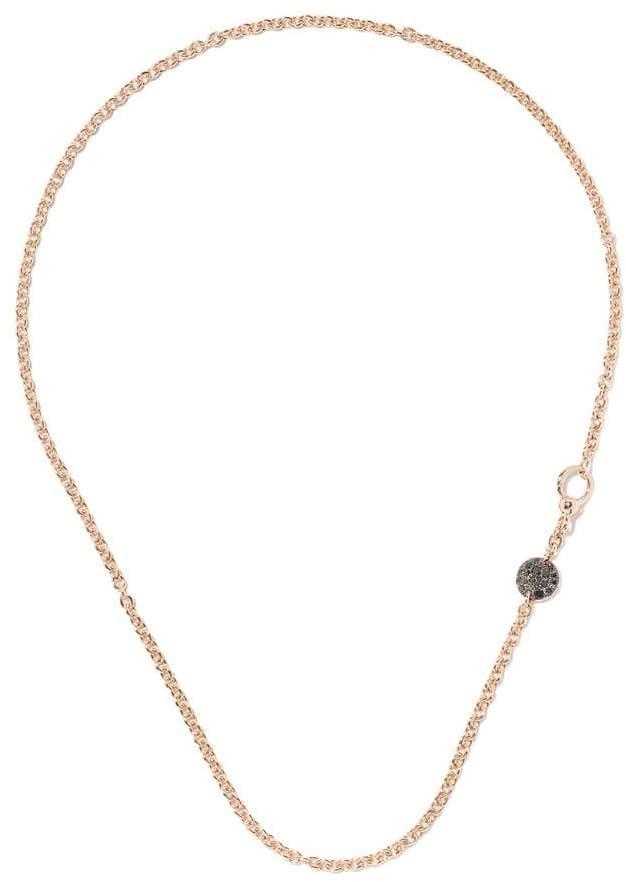 Pomellato 18kt rose gold black Diamond necklace