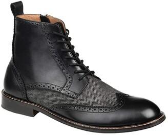 Thomas & Vine Jarett Wing Tip Ankle Boot (Black) Men's Shoes