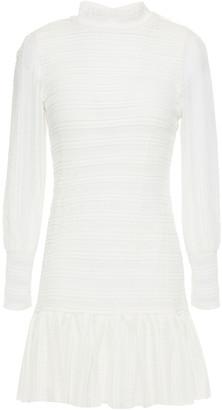 Vanessa Bruno Gathered Stretch-lace Mini Dress