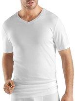 Hanro Sea Island Cotton V-Neck Tee, White