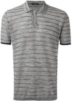Roberto Collina striped polo shirt - men - Cotton/Linen/Flax/Polyester - 52