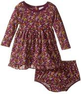 Splendid Littles Printed Modal/Crickle Chiffon Dress (Infant)