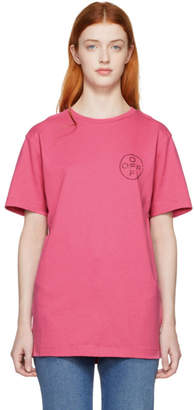 Off-White Off White SSENSE Exclusive Pink Cross Slim T-Shirt