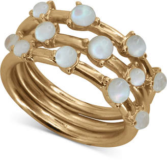Lucky Brand Gold-Tone 3-Pc. Set Mother-of-Pearl Stack Rings