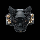 Alexis Bittar Matte Black Crystal Encrusted Panther Cuff Bracelet