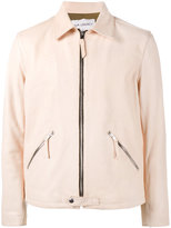 Our Legacy collared zip-up jacket - men - Leather/Polyester/Viscose - 50
