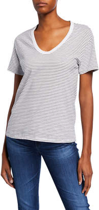AG Jeans Henson Striped Scoop-Neck Short-Sleeve T-Shirt