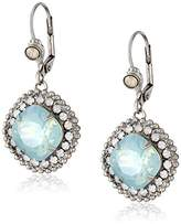 "Sorrelli Aegean Sea"" Cushion Cut Drop Earrings"