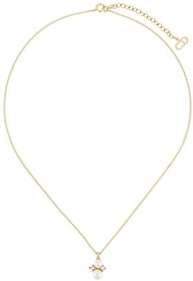 Christian Dior Pre-Owned 1980's faux-pearl pendant necklace
