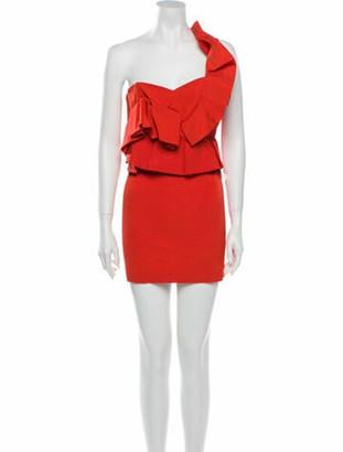 Mestiza New York One-Shoulder Mini Dress Orange