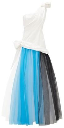 Rodarte Tulle And Silk-blend Taffeta Gown - White Multi