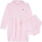 Ralph Lauren Logo polo dress and knickers set 6-24 months