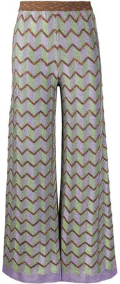 M Missoni Zig-Zag Pattern Trousers