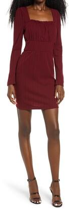 Rowa Ribbed Square Neck Minidress