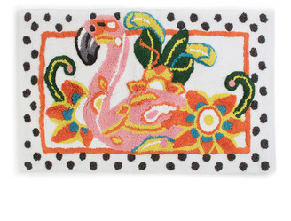 Mackenzie Childs Flamingo Standard Bath Rug