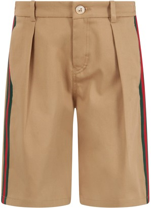 Gucci Biege Short For Boy With Logo