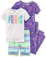 Carter's 4-Pc. #Genius Cotton Pajama Set, Little Girls & Big Girls