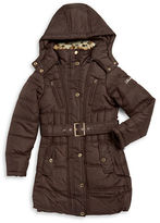 Hawke & Co Girls 7-16 Faux Fur-Trimmed Quilted Coat
