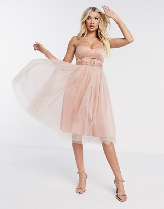 Rare London tulle strapless dress
