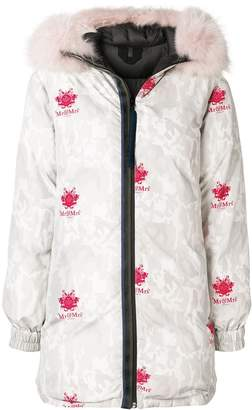 Mr & Mrs Italy camouflage print puffer coat