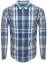 BOSS GREEN C Bustai Check Shirt Blue