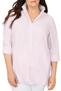 Foxcroft Plus Soraya Simple Striped Tunic