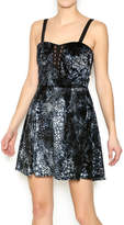 MinkPink Velvet Croc Dress