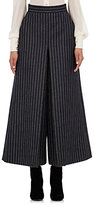 Saint Laurent Women's Pinstriped Culottes-DARK GREY, LIGHT GREY, GREY