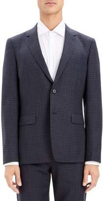 Theory Gansevoort Sartorial Check Wool Blazer