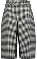 J.W.Anderson Fringed Houndstooth Wool-Blend Culottes