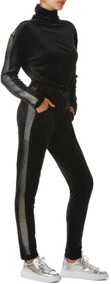 Juicy Couture Bling Mock Neck Velour Jumpsuit