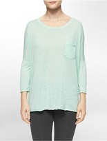 Calvin Klein Performance High Low Dolman Sleeve Top