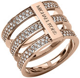 Michael Kors Triple-Stack Pave Ring, Rose Golden