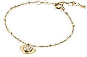 Michael Kors Kors Love Pave Heart Sterling Silver Bracelet in 14K Gold-Plated Sterling Silver, 14K Rose Gold-Plated Sterling Silver or Solid Sterling Silver