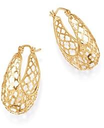 Bloomingdale's Open-Weave Hoop Earrings in 14K Yellow Gold - 100% Exclusive